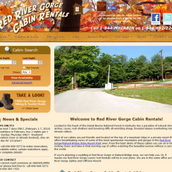 Red River Gorge Cabin Rentals Web Site