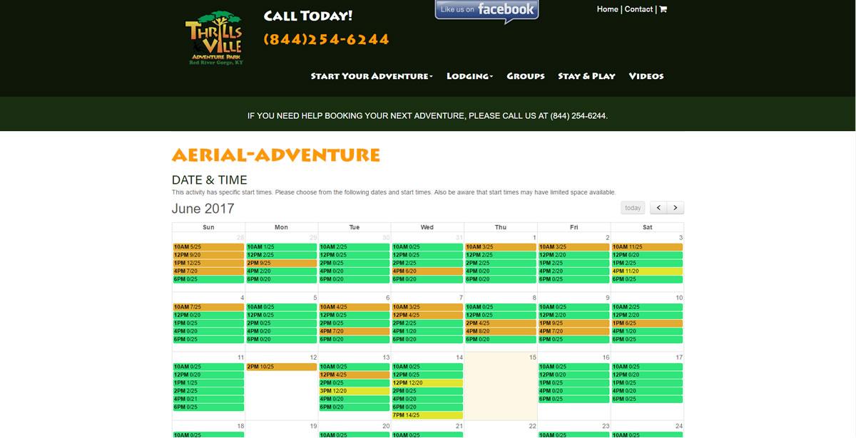 Thrillsville Adventure Park Calendar